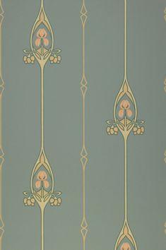 I classici sono tornati di moda! Questo incantevole motivo Art Nouveau, che combina elementi grafici e floreali nel modo più elegante, beneficia del netto contrasto tra i colori di beige, avorio, rosa pallido e verde abete e lo sfondo menta-turchese. Pale Pink Wallpaper, Turquoise Wallpaper, Turquoise Walls, Classic Wallpaper, Turquoise Pattern, Turquoise Background, Wallpaper Art Deco, Wallpaper Samples, Pattern Wallpaper