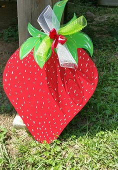 Hey, I found this really awesome Etsy listing at https://www.etsy.com/listing/448543176/strawberry-door-hangerstrawberry-door