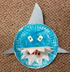 shark craft- have kids make to decorate with