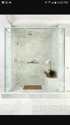 Beautiful Master Bathroom Shower Design Ideas, Bathroom tile ideas are able to help you have the best bathroom possible. Bathroom tile suggestions for bathroom floor tile is able to help you know w. Marble Tile Bathroom, Master Bathroom Shower, Modern Bathroom, Marble Tiles, Bench In Bathroom, Tiling, Spa Master Bathroom, Basement Bathroom, 1950s Bathroom