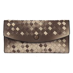 Damara Womens Ombre Woven Flap Clutch Wallet + Mini Purse Set,Purple: Amazon.co.uk: Clothing