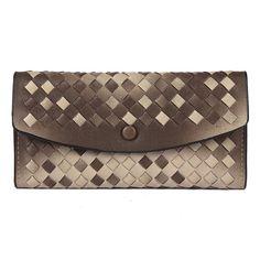 Damara Womens Ombre Woven Flap Clutch Wallet + Mini Purse Set,Purple: Amazon.co.uk: Clothing