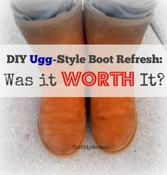 I gave my Ugg knock-offs some in-home repair, but was it worth my time?  | The City Rental