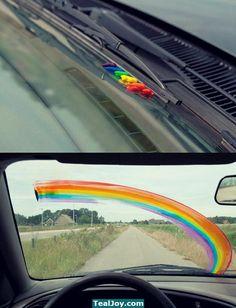 Classic rainbow prank