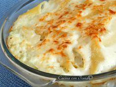 Pasta con crema di cavolfiore e besciamella al forno