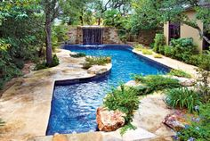 Most Unique Small Inground Pools Ideas That'll Blow Your Mind Inground pools are always the best thing that you should have for a backyard improvement. The pool can definitely enhance the look and value of your home. Swimming Pool Photos, Swimming Pool Designs, Swimming Pools, Oasis Swimming, Pool Spa, Blue Haven Pools, Living Pool, Outdoor Living, Small Inground Pool