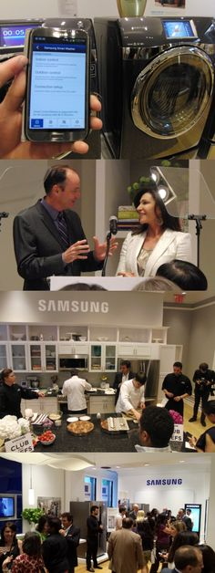 "Samsung House, a showcase of Samsung's newest home appliances, opens Saturday in NYC's chic SoHo district. At a press preview, @Hilary Farr Design, host of HGTV's ""Love it or List It,"" joined Tim Baxter, president of Samsung Electronics America, and five top chefs to show off products like the Samsung DV457 Dryer, which can be controlled with a smartphone app. It won a US EPA Energy Star award for its power efficiency. Samsung House, 372 West Broadway will open June 15 to 16."