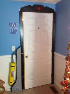 A monsters inc door frame for the kids room!