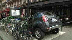 Guy mistakes subway for car park!