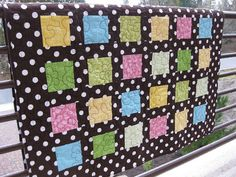 Polka Dot Happy HANDMADE Quilt by BsTextiles on Etsy, $120.00