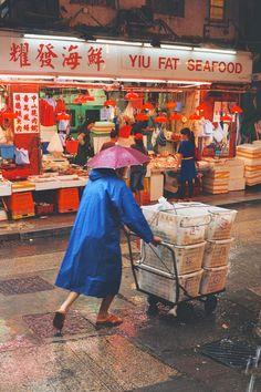 Kowloon Street Scene, Hong Kong by Marco Pane Photografy Art, San Myshuno, Chinese Market, Chinese Design, City Aesthetic, Jolie Photo, Poses, Documentary Photography, Pose Reference