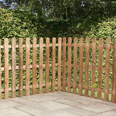 3ft x 6ft Picket Rounded Garden Fence Panels - Fence Supermarket