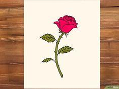 rose draw bunga mawar gambar step cara menggambar wikihow drawing lukisan easy roses drawings merah untuk paling kartun petals rosa