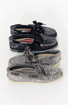 Sperry Top-Sider® 'Authentic Original Glitter' Boat Shoe -- just love these -- velvet and glitter!!!