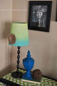 DIY Crafts : DIY Ombre Lamp Shade Re-Vamp
