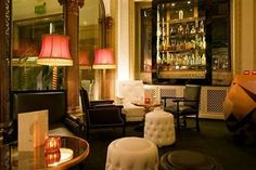Lounge in the Hotel Infante De Sagres, Porto, Portugal