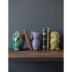 #RoseandGrey See No Evil Hear No Evil Owls  #ceramic #owls