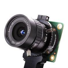 Die Raspberry Pi High Quality Kamera ist das neueste Kamerazubehör von Raspberry Pi. Es bietet eine höhere Auflösung (12 Megapixel im Vergleich zu 8 Megapixel) und Empfindlichkeit (ca. 50% größere Fläche pro Pixel für verbesserte Leistung bei schlechten Lichtverhältnissen) als das vorhandene Kameramodul v2 und wurde für die Verwendung mit Wechselobjektiven in C- und CS-Fassung entwickelt Formfaktoren. Andere Linsenformfaktoren können von Drittanbietern berücksichtigt werden Objektiv Adapter. Raspberry Pi Computer, Raspberry Pi 1, Fujifilm Instax Mini, Binoculars, High, Electronics, Products, Raspberry, Wide Angle Lens