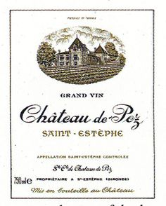Chateau de Pez French Wine Label