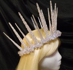 Silver, Snow, Ice, Icicle, Crown Queen Frozen Winter Princess Christmas New Years Eve Game of Thrones Burning Man Costume Snow Fairy Goddess by MyFairyJewelry on Etsy https://www.etsy.com/listing/206459440/silver-snow-ice-icicle-crown-queen