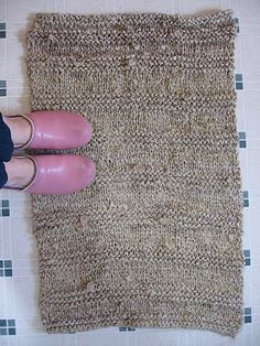 knitted fabric rag rug