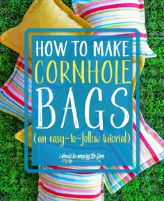 Ever wonder how to make cornhole bags that are CUTE? These DIY Regulation Cornhole Bags are not only easy to make, they're perfect for outdoor fun! Diy Yard Games, Diy Games, Backyard Games, Outdoor Games, Outdoor Activities, Lawn Games, Summer Activities, Outdoor Fun, Games To Play