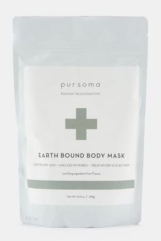 Pursoma Purifying Earth Bound Body Mask, $29; rodales.com I was almost instantly a Pursoma convert after experiencing the power of the brand's Digital Detox Bath firsthand. This formula also features toxin-magnet clay as its primary ingredient, and while it might leave your tub a tad messy, your skin will be so soft and clear that you probably won't mind.   - ELLE.com
