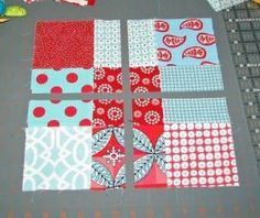 disappearing 9 patch - my new favorite quilt pattern. So easy and goes so fast. by Rita Seager