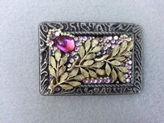 Woman's belt buckle, Bling, pink crystal, Boho, Free shipping, Christmas gift