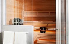 Beautiful sauna in small space