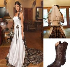 2017 New Arrival Wedding Dress With Free Veil Sweetheart Neck Lace Up Back Camo Wedding Dress 2017 Custom Made ** AliExpress Affiliate's Pin. Find similar products by clicking the image