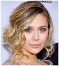 Pin your hair up in a wavy updo like Elizabeth Olsen! beauty,Beauty looks,Hair,hair & makeup Bob Wedding Hairstyles, Romantic Hairstyles, Up Hairstyles, Bridesmaid Hairstyles, Up Dos For Medium Hair, Medium Hair Styles, Short Hair Styles, Romantic Wedding Hair, Casual Wedding