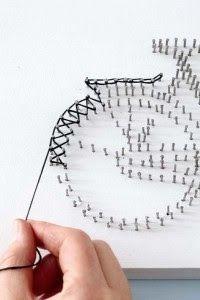Step-by-Step DIY String Art Βicycle