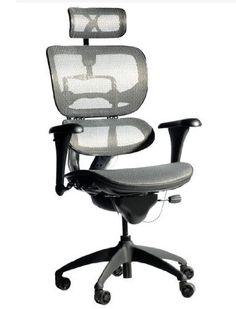 High back office chair - Pin it :-) Follow us     :-)) AzOfficechairs.com is your Office chair Gallery ;) CLICK IMAGE TWICE for Pricing and Info :) SEE A LARGER SELECTION of  high back  office chair at  http://azofficechairs.com/?s=high+back+office+chair -  office, office chair, home office chair  -   Like Ergohuman Executive Chair With Headrest (Gray Mesh Seat and Back) « AZofficechairs.com