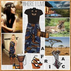 """Where I Live : Africa"" by coaching-en-image ❤ liked on Polyvore"