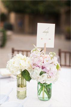 mixed floral centerpieces @weddingchicks