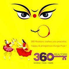 360 Realtors wishes you peaceful, happy & prosperous Durga Puja, Real Estate Services, Pikachu, Happy, Fictional Characters, Art, Art Background, Kunst, Ser Feliz