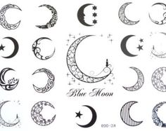 2013 new tattoo sticker d 112 moon design tattoo sticker 100pcs wholesale free shipping cool. Black Bedroom Furniture Sets. Home Design Ideas