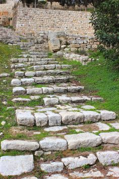ancient walkway by the house of Caiaphas that Jesus would have walked on that connects Upper City and Lower City in Jerusalem