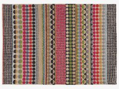 BLOOMSBURY multi-coloured wool geometric rug 170 x - HabitatUK. Bloomsbury hand tufted rug designed by Margo Selby exclusively for Habitat. Features a colourful design with bold geometric shapes. The wool pile makes the rug hard wearing yet soft. Winter Blankets, Textiles, Hand Tufted Rugs, Geometric Rug, Circle Pattern, Small Rugs, Bloomsbury, Rugs In Living Room, Living Area