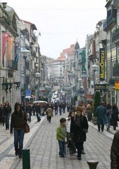 Rua de Santa Catarina, downtown Porto, Portugal, where you can find a mix of the usual high street suspects, along with many old-fashioned independent retailers, which add a lot of charm to the place.