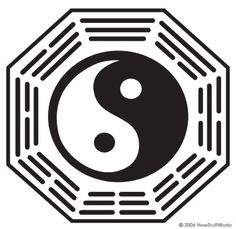 """The logo is a bagua, an octagonal symbol that incorporates symbols from Taoism and Confucianism. In a bagua, the eight trigrams of the """"I Ching"""" surround a yin-yang. The yin-yang is a well-known Taoist symbol that represents change and balance. Trigrams are simply three-line combinations of whole and broken lines."""