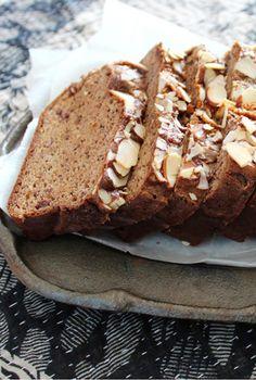 Banana & Almond Butter Maca Breads