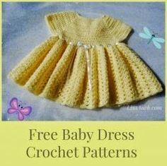 Free Crochet Pattern Baby Dress, Easy baby crochet dress pattern to create a Cute Babies Dress (with pictures to help)