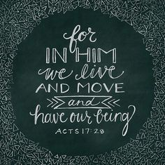 In Him...life