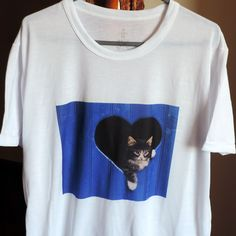 Camiseta unissex com estampa de gato maine coon