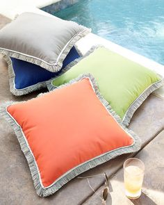 Outdoor Pillows by Lacefield Designs at Horchow.