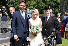 Congratulations to Geraint & Eleri who were married at Llanddeiniol Church in Llanrhystud nr Aberystwyth Ceredigion today. After Bagpiping for the arrival of 150 guests, I piped the Bride & Groom out of Church to a 'Guard of Honour' of Wedding decorated pitch forks. Best wishes to the Happy Couple for their future together :-) #SouthWales #Weddingmusic #Bagpipes #Llanrhystud #Ceredigion #Aberystwyth #Dyfed #Cardiff #Carms #Carmarthen #Carmarthenshire #Pembs #Pembrokeshire