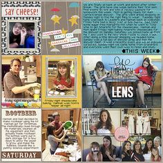 Project Life, pocket scrapbooking, everyday life, making rootbeer, bridal shower, stamping on a photo. Designed by Juli Fish