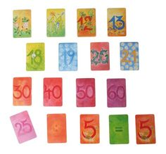 Grimm's Illustrated Number Cards, Supplementary Set brings joy and imagination to learning arithmetic!